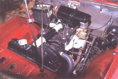 1948 Willys Jeepster Go-Devil engine