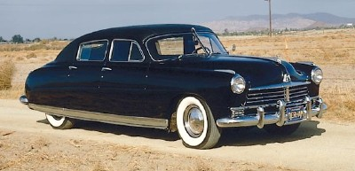 1949 Hudson Commodore Eight sedan by Derham front-three-quarter view
