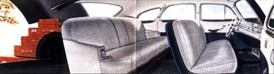 1949-1951 Nash Airflyte interior view