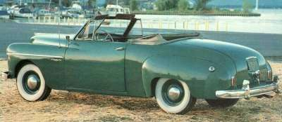 All 1950 Wayfarers, including this 1950 Dodge Wayfarer convertible, sported fender-mounted taillights.