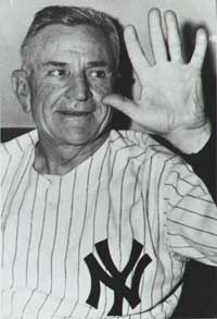 Casey Stengel's triumph was the first time a club of his finished in the first division.
