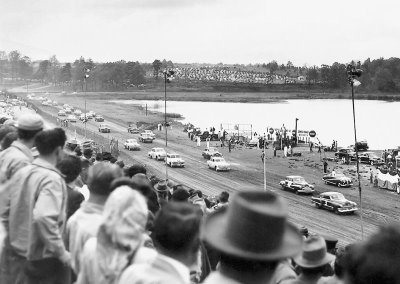 After the close of 1949 NASCAR Strictly Stock season, promoter Sam Nunis staged a late-model race at Atlanta's Lakewood Speedway.