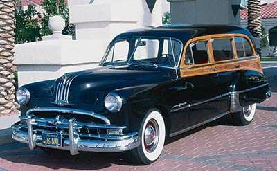 The 1949 Pontiac Streamliner DeLuxe wagon, part of the Pontiac line of wood-bodied cargo haulers