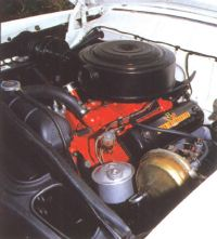 1956 Ford Country Squire engine view