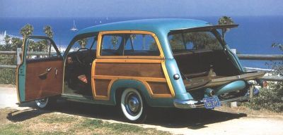 1951 Ford Country Squire rear view