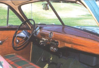 1951 Ford Country Squire interior view