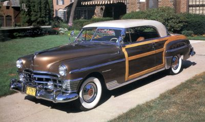 The 1950 Chrysler Town & Country had a wood body and came as a hardtop and convertible