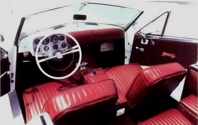 dashboard view of a 1954 Muntz Jet automobile