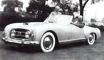 George Mason and Pinin Farina with a 1952 Nash-Healey