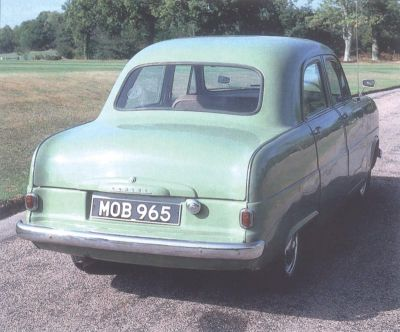 1951 Ford Consul, rear view