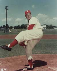 Robin Roberts debuted during the 1948 National League Season at age 21.