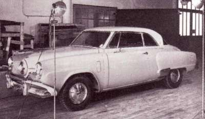 The 1952 Studebaker Starliner's grille was designed by Bob Bourke.