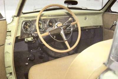 The interior of the 1952 Studebaker Starliner was roomy and comfortable.