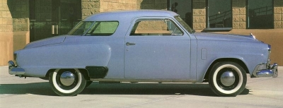 Though the front of the 1952 Studebaker was new, the rear remained largely unchanged.