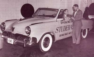 This 1952 Studebaker Commander served as the pace car for the Indianapolis 500 that year.