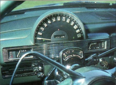 Even the steering wheel and gauges were designed to match the Hudson Jet's interior styling.