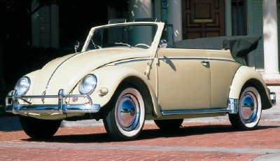 1957 Volkswagen Beetle convertible, part of the 1953-1979 Volkswagen Beetle line of collectible cars.