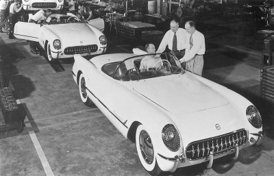 The very first Corvette came off the assembly line in Flint, Michigan, on June 30, 1953.