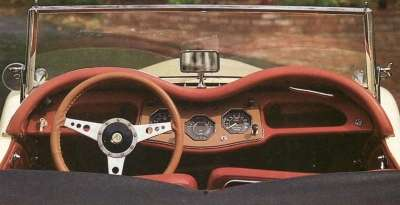 1955 MG TF 1500 interior