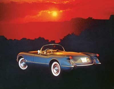 The 1954 Corvette had a revised camshaft that boosted the 235.5-cubic-inch six by five bhp to 155.