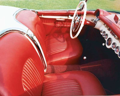 The 1954 Corvette featured bucket seats, a sports-car must -- even for one with only an automatic transmission.