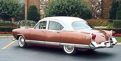 1954 Kaiser Special sedan early version, rear-three-quarter view