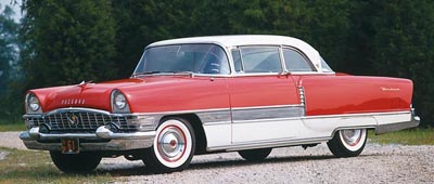 This 1955 Packard Four Hundred hardtop coupe was part of the 1955-56 Packard Four Hundred series.