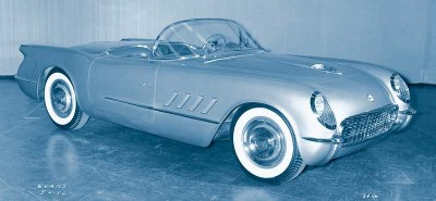 The 1955 Corvette got a V-8 option that was a boon to performance but had little sales impact.
