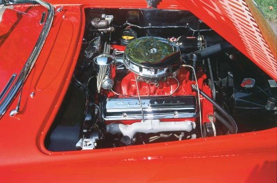With 265 cubic inches and 195 bhp, the 1955 Corvette's V-8 trimmed the 0-60 sprint to well under nine seconds.