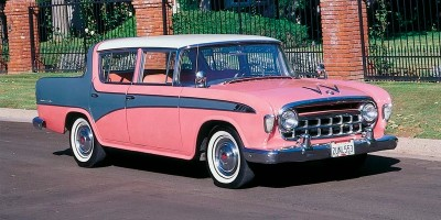The 1956 Rambler Hudson Rambler Custom Sedan, part of the 1956-1957 Rambler Hardtop Sedans & Wagons line