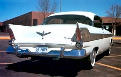 1956 plymouth fury dual exhausts
