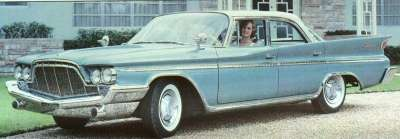 The 1960 DeSoto Adventurer could be ordered with an optional Ram Charge ram-induction system.
