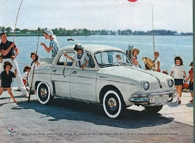 The 1955 Renault Dauphine is shown here.