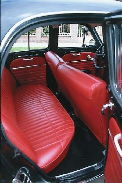 The rear half of the back windows of the 1964 Renault Dauphine slid forward for ventilation