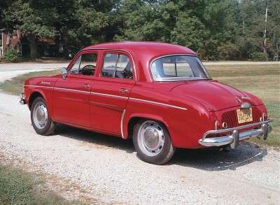 The 1964 Renault Dauphine sported new four-wheel disc brakes.