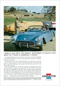 One 1956 Corvette ad poked fun at sports-car purists.