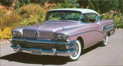 The 1958 Buick Super series was reduced to a pair of Riviera hardtops for the year.