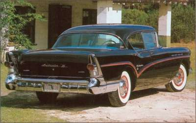 The 1957 Buick Roadmaster 75 was a new half-step-up series in four- and two-door hardtop styles.