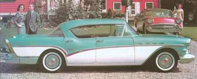 The 1957 Buick Super four-door hardtop was the only model to wear series identification on its bodysides.