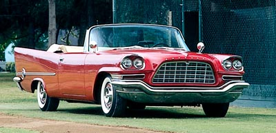 The 1958 Chrysler 300-D convertible, part of the Chrysler letter-series 300.