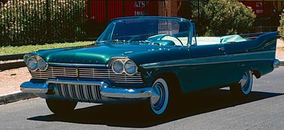 1957 Plymouth Belvedere convertible, part of the 1957-1958 Plymouth Belvedere Convertible & Hardtop Coupe line