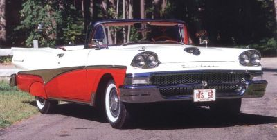 1958 Ford Fairlane 500 Skyliner front view