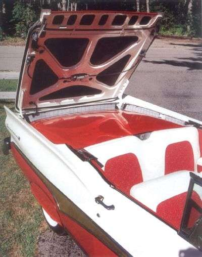 1958 Ford Fairlane 500 Skyliner retractable top view