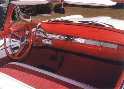 1958 Ford Fairlane 500 Skyliner interior view
