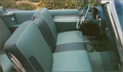 1957 Imperial convertible interior