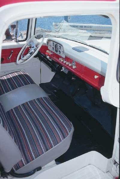 1960 Ford F-Series pickup truck interior