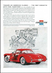 The 1957 Corvette added fuel injection for improved engine performance.