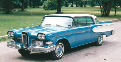 The 1958-1959 Edsel Corsair, part of the 1958-1960 Edsel line of collectible cars.
