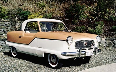 This 1957 AMC Metropolitan hardtop was part of the 1958-1962 AMC Metropolitan line.