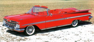 More than 65,800 1959 Impala convertibles were made for the year.